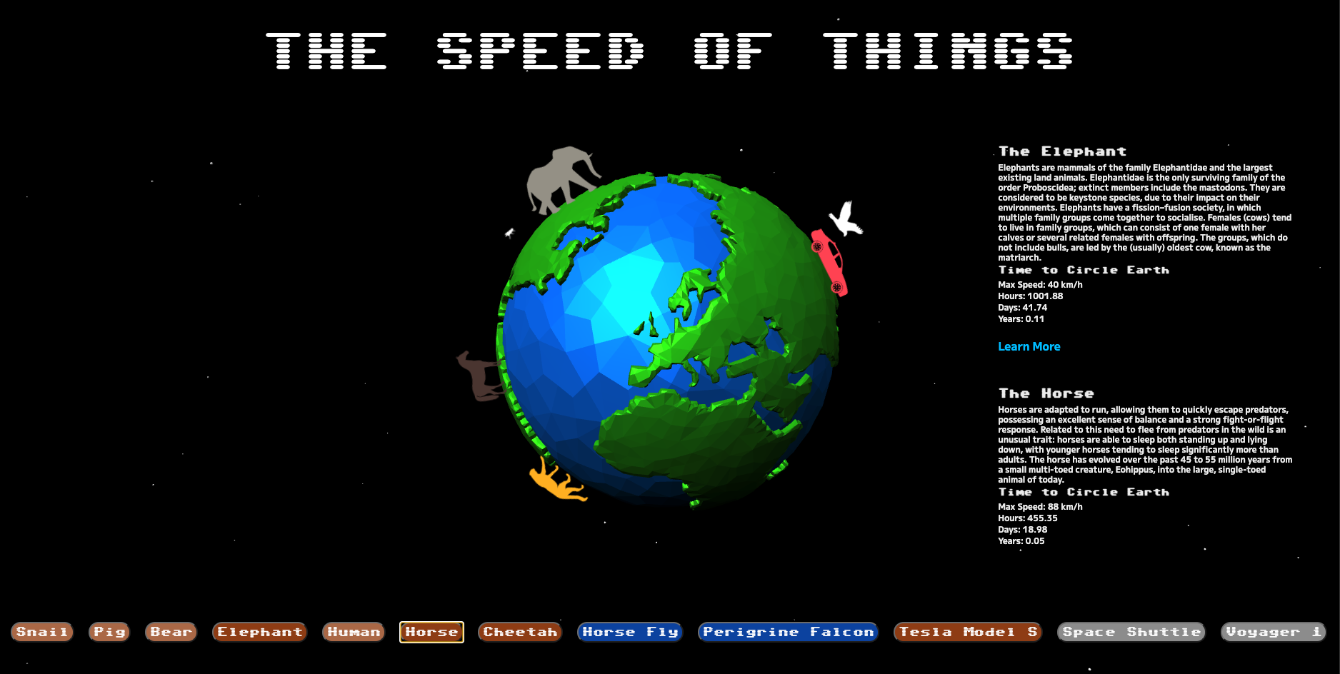 Screenshot of Speed of Things